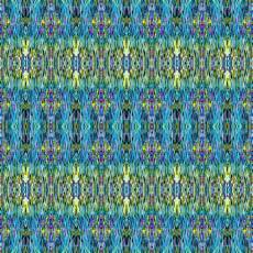 Baumwollstoff *Where in the world* Hawaii Blue