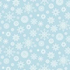 Baumwollstoff *Peace and Goodwill*Schneeflocken auf hellblau