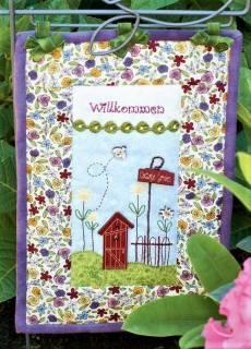Materialpackung *Cottage Garden* Garten Wandquilt Blumenstecker MP21-0060