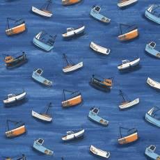Baumwollstoff; Boote im Wasser *Sailors Rest*