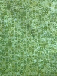 Batikstoff; Grün mit grafischem Muster