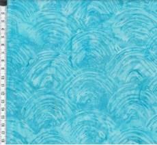 Batikstoff; Türkis (mit Halbkreisförmigen Wellen)