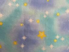 Patchworkstoff Quilt *Sterne*  himmelblau REST 90 x 110 cm