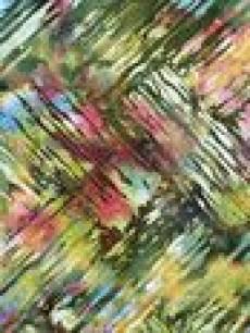 Batikstoff; Stof Hoffman Fabrics Grün/Lila/Blau Streifenmuster