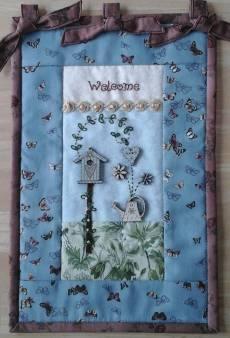 Materialpackung *Garten*, Wandquilt Blumenstecker - wieder da!