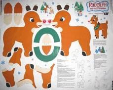 Baumwollstoff Panel um den süßen Rudolph zu nähen!