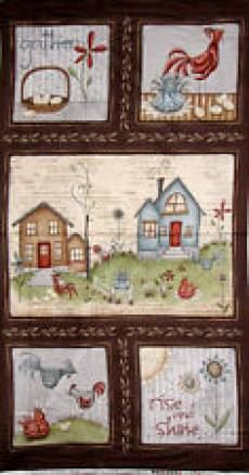 Patchworkstoff Panel *Home to Roost* Hahn RR23447