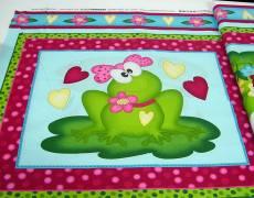 Patchworkstoff Panel (ca. 60cm) *Mrs. Frog* Frosch Robert Kaufman