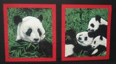 Patchworkstoff Panel *Giant Panda*