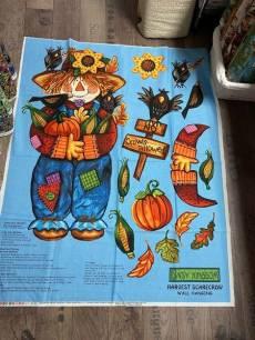 Patchworkstoff Panel (ca. 90 cm) *Harvest Scarecrow;Vogelscheuche