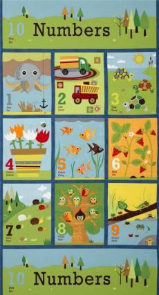 Patchworkstoff Panel (ca. 60 cm) *`Ten little things* Moda