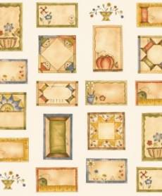 Patchworkstoff Panel (ca. 60cm) *Time to stitch* Labels