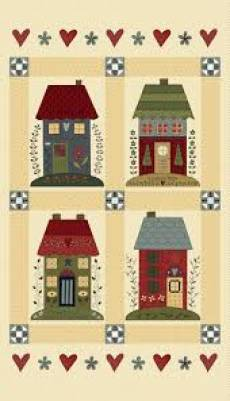 Patchworkstoff Panel (ca. 60cm) *Home Sewn* Henry Glass