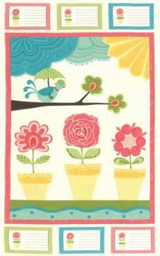 Patchworkstoff  Panel 60x110 cm *Chance of Flowers*  Moda17760
