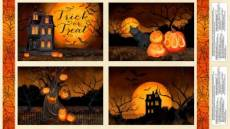Patchworkstoff  Panel 60x110 cm *Haunted Night* Wilmington Prints
