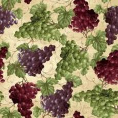 Baumwollstoff  *Vineyard Valley* Weintrauben