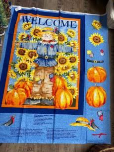 Patchworkstoff Panel (ca. 90 cm) *Scarecrow*  mit Sonnenblumen
