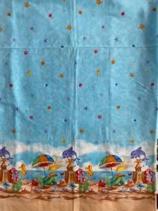Baumwollstoff  Panel *Tiere am Strand*  90x110cm