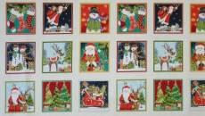 Patchworkstoff Makower Novelty Labels Weihnachten