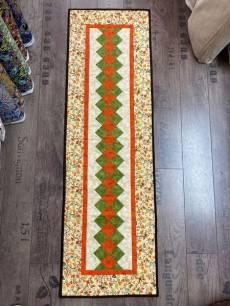 Patchwork Materialpackung Tischläufer; Herbstfarben 1,25x0,38m
