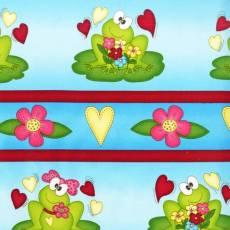 Patchworkstoff Streifenstoff *Mrs&Mr.Frog* Robert Kaufman