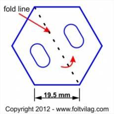 Schablone, Template Hexagon 19mm, 35 Teile