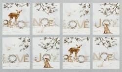 Patchworkstoff Weihnachten Panel Winter White 30cmx110cm