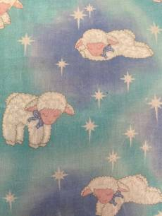 Baumwollstoff  Schäfchen in einem Wolkenhimmel