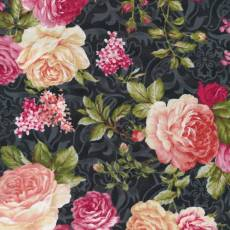Patchworkstoff  *Natural Beauty Floral* Black