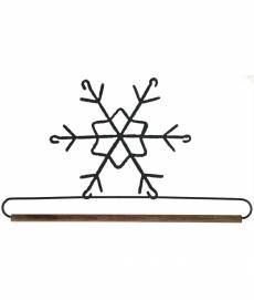 Dekobügel Quilt Hänger 19 cm *Schneeflocke* 7 1/2 Inch Winter Wonderland AW86557-F