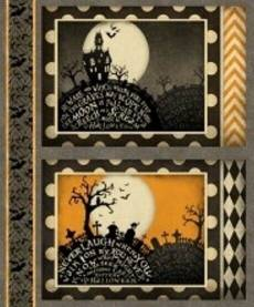 Patchworkstoff  Panel 30x110 cm *Come sit a spell* Halloween
