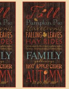 Patchworkstoff Panel *Colors of Fall* Herbst orange braun rot