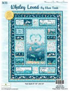 Nähanleitung *Whaley Loved* Twin Quilt 61 1/2 Inch x 80 1/2 Inch