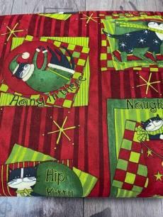 Patchworkstoff *Hip Holiday* Katzen im Weihnachtstrubel