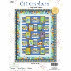 Nähanleitung *Catmosphere* Wilmington prints Twin Quilt 63 Inch x 81 Inch