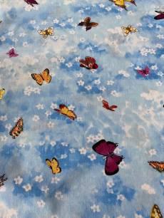 Patchworkstoff*Beary Berry* Schmetterlinge am Himmel