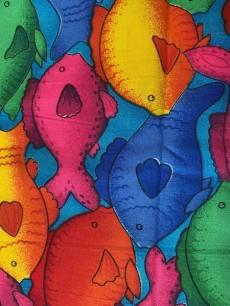 Patchworkstoff Bunte Fische