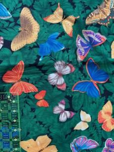 Patchworkstoff*Butterflys* Schmetterlinge im Wald (Rest 1,40x1,10m)