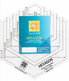 Hexagon Schablone in Inch