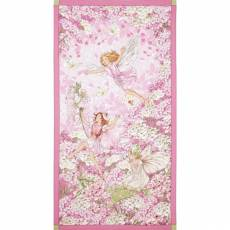 Patchworkstoff Fee, Elfe, Petal Flower Fairy Panel, pink; 60x112cm