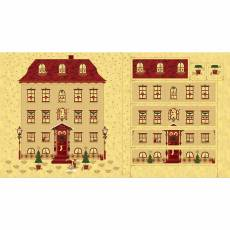 Patchworkstoff Quilt Panel STOF Advent Kalender 2020 Magic Christmas Haus