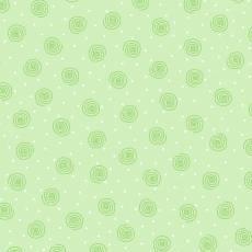 Patchworkstoff Flanell *Green Squiggle* Flanell Kringel Punkte grün weiß 0019AE-66
