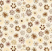 Patchworkstoff Quilt Stoff Blume creme  REST 100 cm x 110 cm 4304