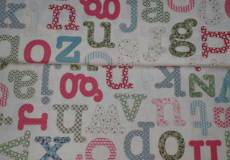 Patchworkstoff Rarität Alphabet Homeschool  Buchstaben 35175