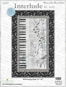 Nähanleitung *Interlude* by Artly Wilmington Prints Wall Hanging Quilt 33 Inch x 51 1/2 Inch 587B