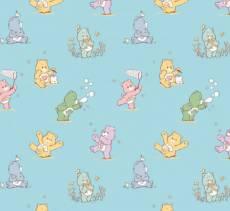 Patchworkstoff Flanell *Playful Care Bears* spielende Bärchen  44010405B-2