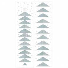 Patchworkstoff Quilt Stoff Glimmering Advent Kalender Panel weiss 4595-132