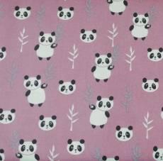 Patchworkstoff Pandas Bambus weiß schwarz beere Copenhagen Print Factory CP-01