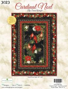 Nähanleitung *Cardinal Noel* by Susan Wingel Wilmington Prints Small Throw Quilt 45 Inch x 63 Inch 620B-555