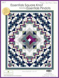Nähanleitung *Essentials Square Knot* featuring Essentials Pindots Wilmington Prints Wall Hanging Quilt 60 Inch x 73 1/2 Inch 634-555